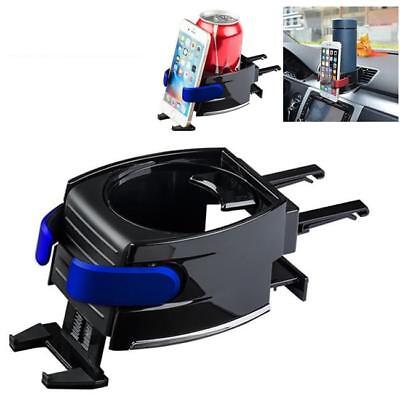 2in1 Universal Car Air Vent Phone Mount Holder + Drink Water Bottle Cup Holder B