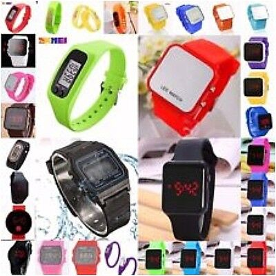 LED digital soft Silicone Round,Square etc Watch Wristwatch Men,Ladies selection