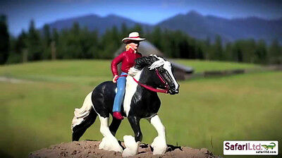Gypsy Vanner Horse cowgirl Audrey on Streaming light figure SAFARI papo schleich