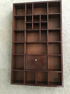 FRANKLIN MINT WALLSTAINED TIMBER  CABINET for PORCELAIN FIGURINES  53 X 32 X 6