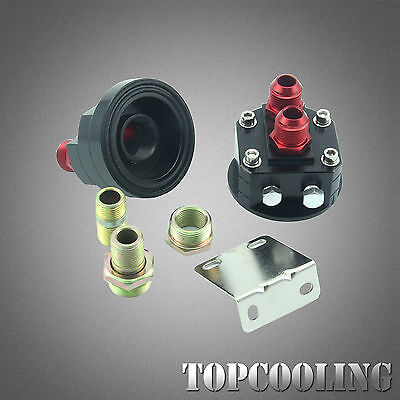 AN-8AN Oil Filter Relocation +Male Sandwich Fitting Adapter Kit M20*1.5 & 3/4-16