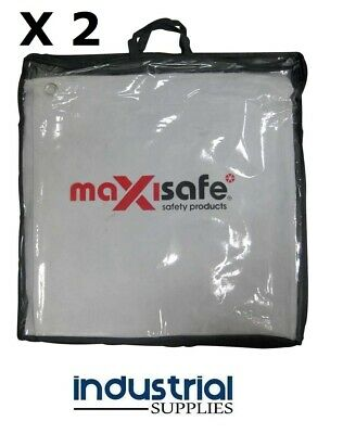 2 x Welding Blanket 1.8m x 1.8m Leather Heavy Duty Blanket Arcguard WITH eyelets