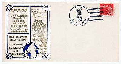 Gemini GT-12 Prime Recovery Ship USS Wasp Captain's cover 1966