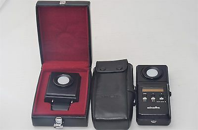 MINOLTA COLOR METER II Flash Color Receptor w/Case Free Shipping Worldwide