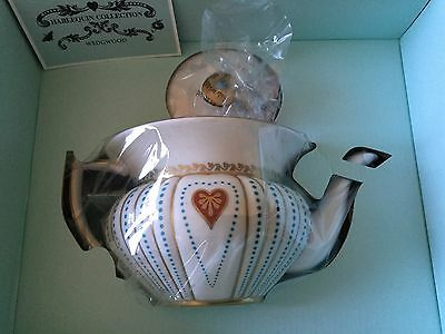 Wedgwood Harlequin Collection Queen of Hearts Teapot Bran New In Box