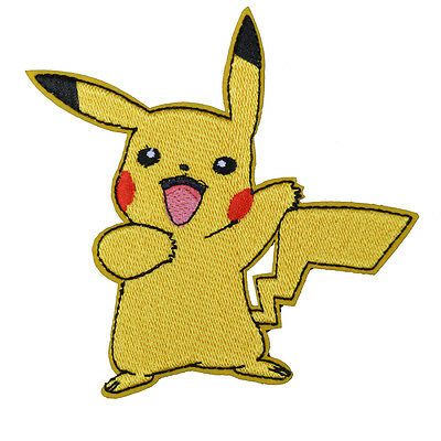 """POKEMON GO GAME PIKACHU PATCH EMBROIDERED IRON ON APPLIQUE 2.7""""x3.5"""""""