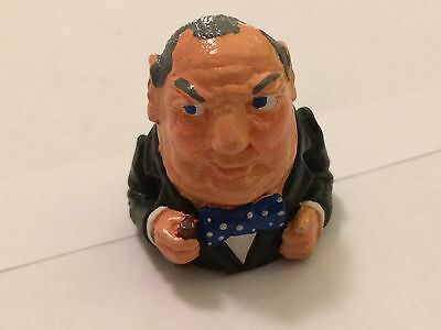 """Hand Painted Pewter thimble of """" Sir Winston Churchill"""""""