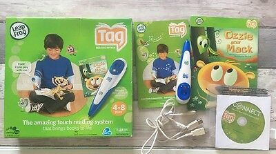 LeapFrog Tag Learning / Reading System with Pen Ozzie and Mack Books