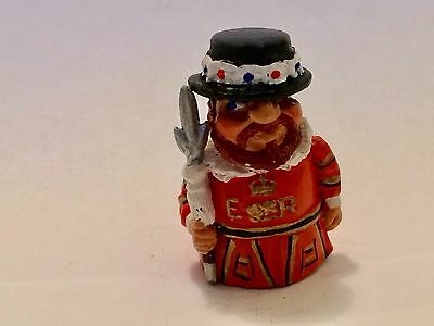 """An English Hand Painted Pewter Thimble of a """"Bearded Beefeater"""""""
