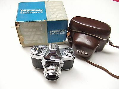 VOIGTLANDER BESSAMATIC DELUXE CAMERA WITH f2.8 50mm COLOR-SKOPAR  LENS