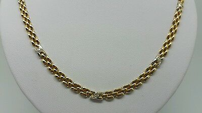 Exclusives Collier Gelbgold 585/14K | 43,5Cm| 16,60Gr.| Brillanten Top Zustand