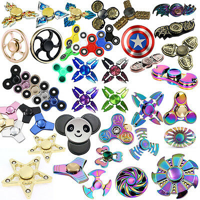 Aluminum Alloy Fidget Hand Finger Tri Spinner Focus Stress Toys For Kids Adults