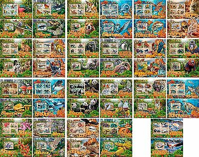 Fauna Animals Butterflies Minerals Orchids Fishes Togo 46 MNH stamp sheets set
