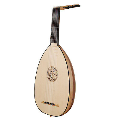 Muzikkon Renaissance Laute, 7 Course Variegated  Maple Walnut Lute