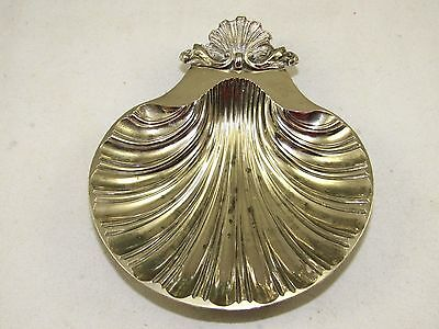 Sheffield Silver Scalloped Serving Bowl Clam Shell Dish,Plated,USA Made Reprod