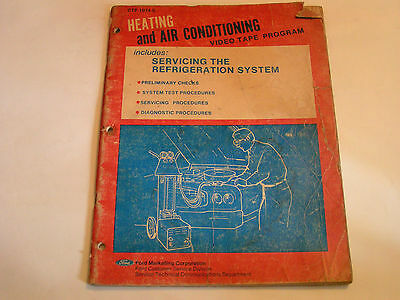 1974 Ford Marketing Corp Heating and Air Conditioning Manual