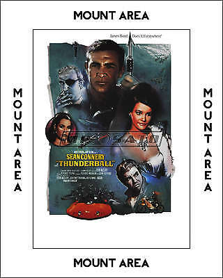 Thunderball - Official Limited Edition James Bond Lithograph - MOUNTED