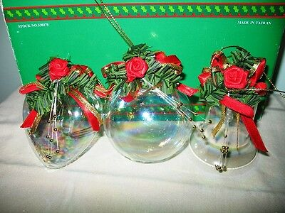 House Of Lloyd Christmas Around World-Heart, Ball, & Bell Glass Ornaments-In Box