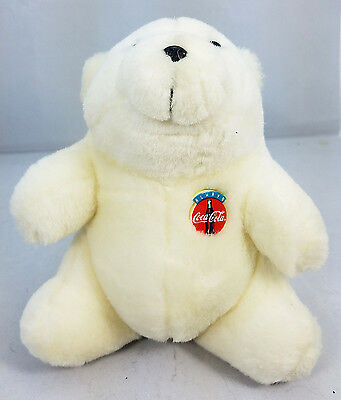 "Coca Cola Polar Bear 8"" Plush - Always Coke  - Stuffed Animal Advertising 1993"
