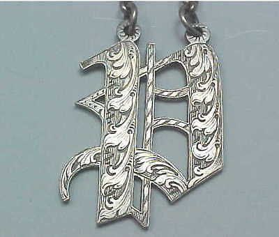 """1846 Sterling Silver Decanter Wine Label Initial """"P"""" Rawlings & Summers London"""