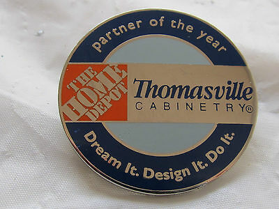 New Home Depot vendor partnership thomasville cabinetry Lapel Pin