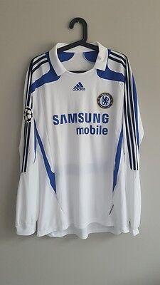 Chelsea London Away Champions League 2007/2008 Didier Drogba match worn shirt