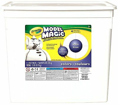 Crayola; Model Magic; White Modeling Compound; Art Tools; 2 lb. Resealable for