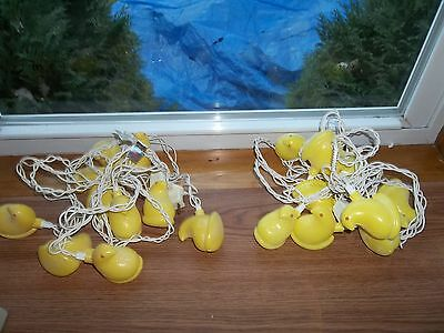 Yellow Peepes Chicks String Lights * 2 Sets * 20 Peeps Total