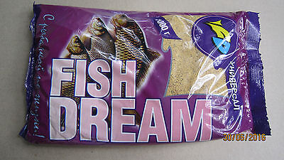 "Groundbait for Fish Carp Сrucian Bream Fishing Bait ""FishDream"" 1kg 'Universal'"