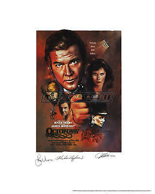 Octopussy - Bond Lithograph - Signed by Roger Moore, Wayborn & Artist! ROLLED