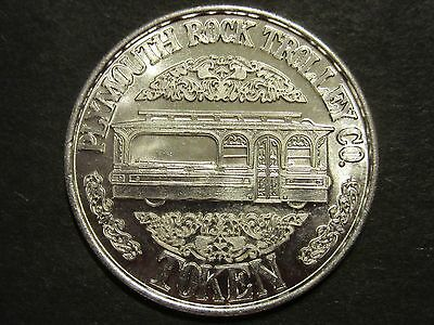 Large Plymouth Rock Trolley Company One Way Fare Token Coin Aluminum