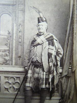 Scottish Gentleman from Inverness, Scotland 1870's cdv Photograph - original
