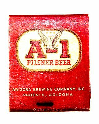 Vintage A-1 Beer Intact Matchbook Match Book Phoenix Arizona EX No Risk Offer