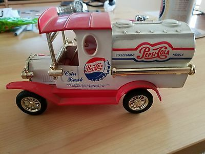 Vintage Pepsi Cola Coin  Bank Truck