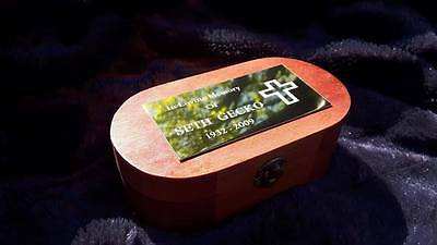 Memorial Wooden Urn UNLIMITED ENGRAVING For Ashes Ash Box Cremation
