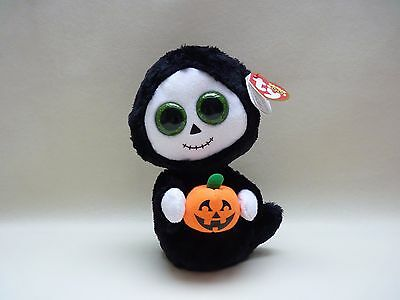 Ty Beanie Boo Treats Ghost sparkly eyes Halloween Special DOB 01.08 Rare New