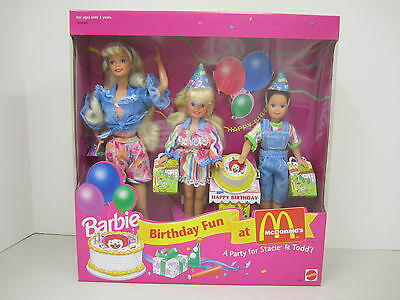 BARBIE BIRTHDAY FUN At McDonalds - A Party for STACIE AND TODD! Gift Set - 1993