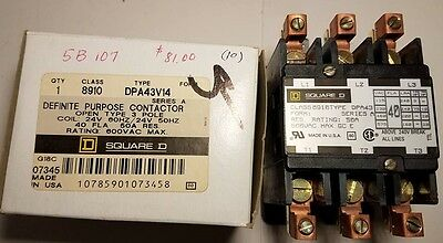 Square D 40A 3 pole contactor 24 v coil
