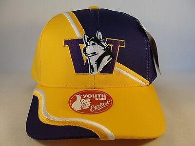 16f3db6c0fd Kids Youth Size NCAA Washington Huskies Vintage Adjustable Strap Hat Cap