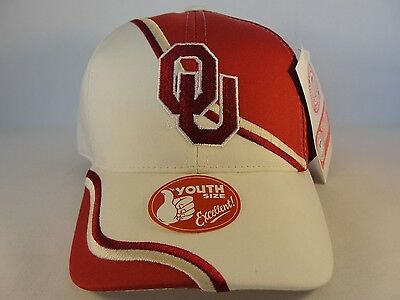 pretty nice 8888a 39e28 Kids Youth Size NCAA Oklahoma Sooners Vintage Adjustable Strap Hat Cap