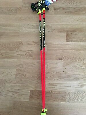 LEKI Ski Poles 120cm World Cup SL-Racing Series -Trigger S straps INCLUDED!!