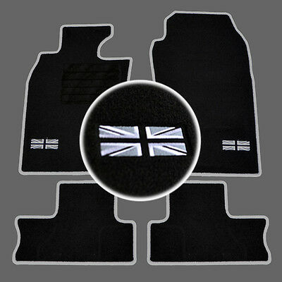 4 Tapis Sol Mini 2001-2006 R50 R53 Moquette Logo Flag Uk + Contour Specifique