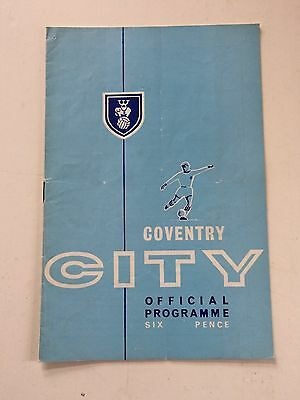Coventry City v Tottenham Hotspur 1964-65 (Friendly Match)