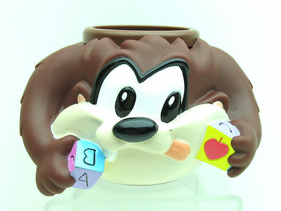 Baby Looney Tunes Taz Tasmanian Devil Cup Handles Six Flags Warner Bros 9432
