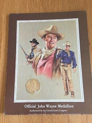 Official John Wayne Commemorative GOLD PLATED Medal, Medallion, Coin - US Mint