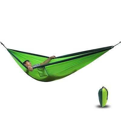 Camping Hammock | 270x 140 Cm  | Made Of Parachute Nylon Ultralight, 180 Kg