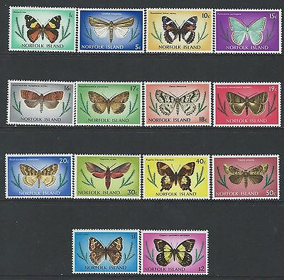 Norfolk Island - #201//#217 - Butterflies Partial Set (1976-1977) Mnh Fresh
