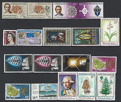 Norfolk Island - Mint Never Hinged Stamps Lot (1971-1974) Mnh Fresh