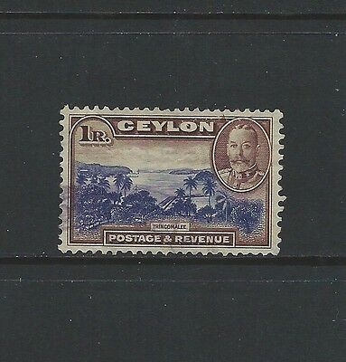 Ceylon - #274 - 1R King George V High Value (1935)