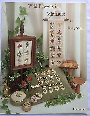 """Framecraft """"Wild Flowers in Miniature"""" Counted Cross Stitch Chart Booklet"""